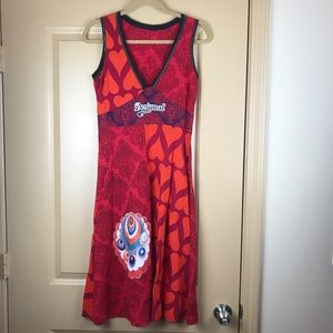 Desigual red heart Dre's harlequin pattern small